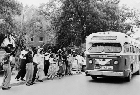 A description of montgomery bus boycott a political and social protest campaign against the policy o