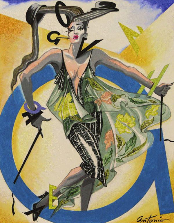 Antonio lopez style icon waldina Fashion style via antonio panizzi