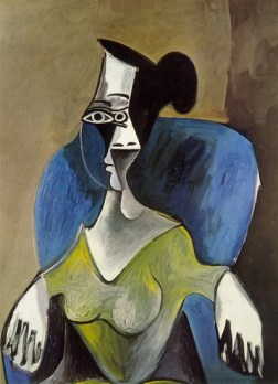 painting of Sara by Picasso