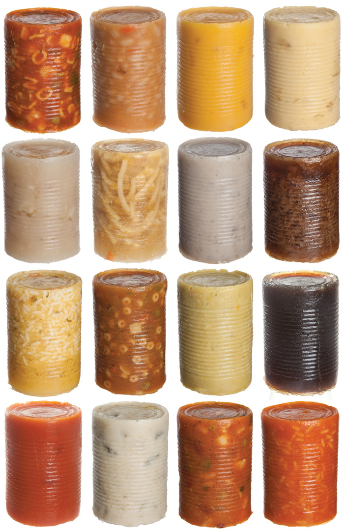 Artist and photographer Lindsey Wohlman reimagines Andy Warhol's famous Campbell's Soup Cans in a Kickstarter funded project entitled, Warhol Soup Cans Naked & Unlabeled. The artist is half-way through the project as Warhol's original piece featured 32 soup cans.