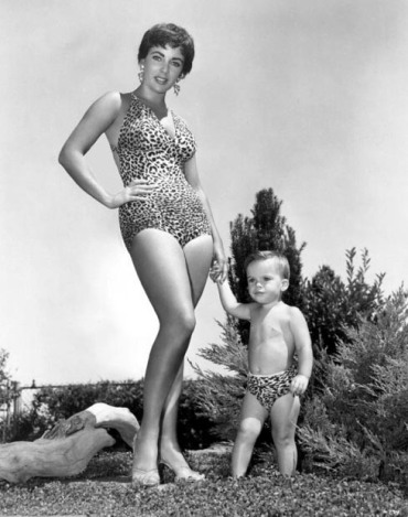 Elizabeth Taylor and son Michael