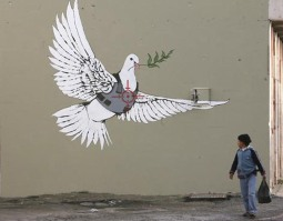Banksy-Graffiti-Wallpaper-Dove-of-Peace-for-Palestine