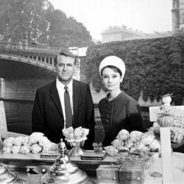 """Cary Grant and Audrey Hepburn in """"Charage"""""""