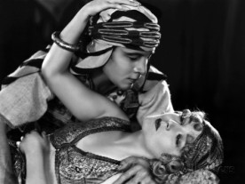 Rudolph Valentino and Myrna Loy