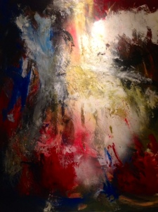Fireworks. 5′ x 6′ Acrylic $3,800. **SOLD** commissioned piece. [click on the photograph to be taken to the listing]