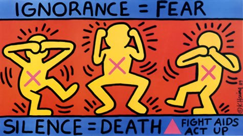 """""""Silence = Death"""" by Keith Haring 1989"""