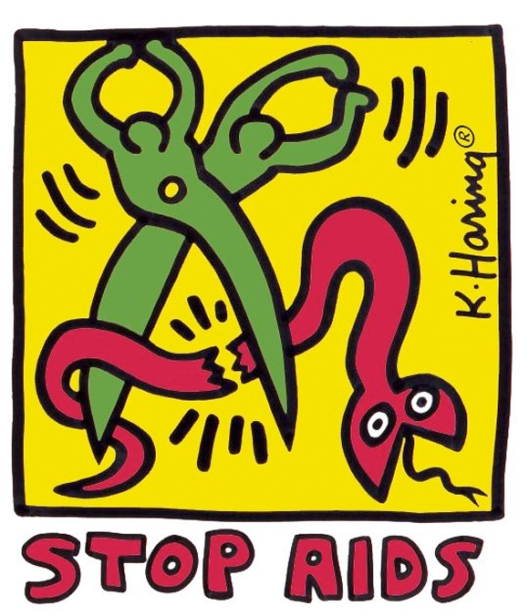 """Stop AIDS"" by Keith Haring 1989"