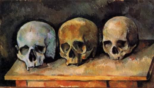 cezanne The Three Skulls