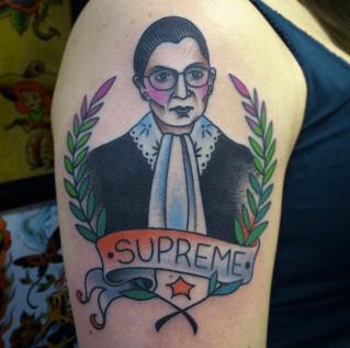 Ruth Bader Ginsburg tattoo