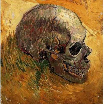 Title: Skull Artist: Vincent van Gogh Dated: Winter, 1887 - 88 Location: Van Gogh Museum, Amsterdam