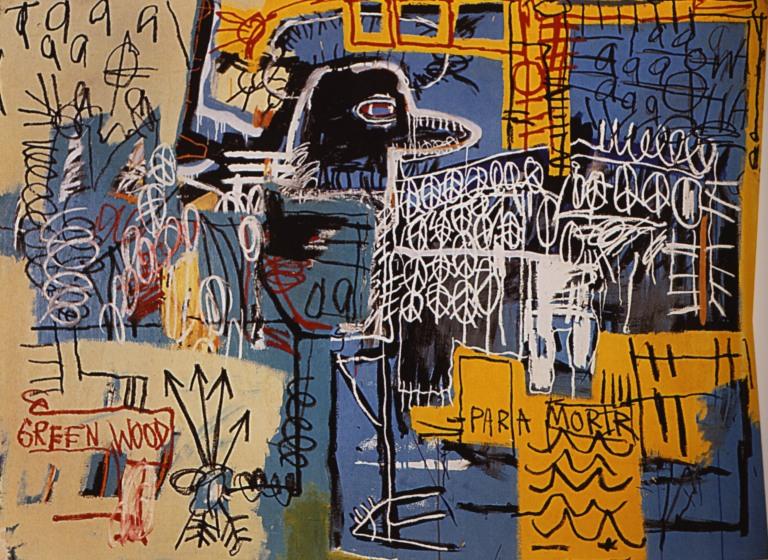 """Jean-Michel Basquiat """"Bird on Money"""""""