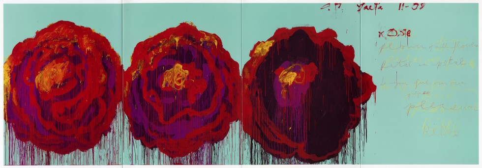 """Cy Twombly """"The Rose IV"""" (2008)"""