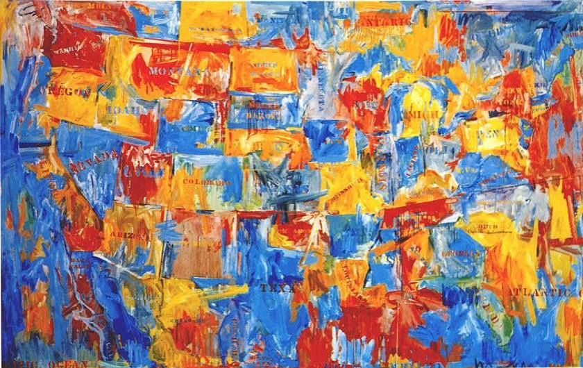 "Jasper Johns ""Map"" (1961)"
