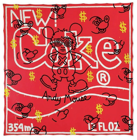 "Keith Haring - ""Andy Mouse - New Coke"""