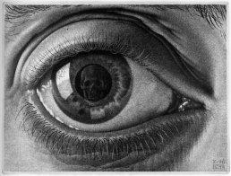 """""""Eye"""" by M.C. Escher; 1946"""