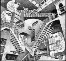 """""""Relativity"""" M.C. Escher; 1953"""
