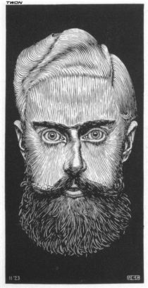 """Self Portrait"" M.C. Escher ; 1923"