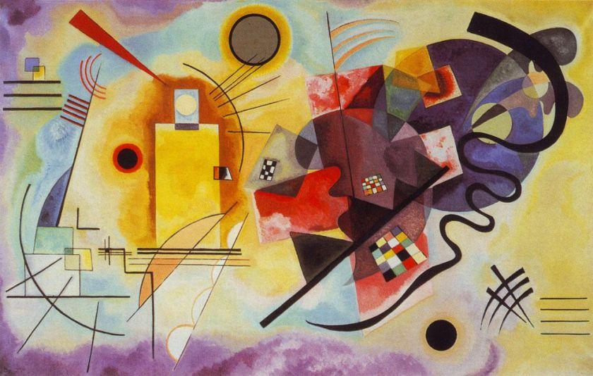 "Wassily Kandinsky ""Yellow Red Blue"""
