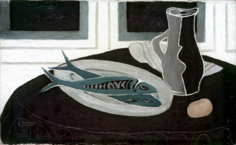 georges braque bottle-and-fish-1941