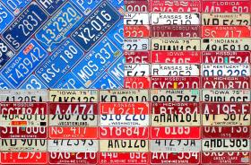 american-flag-recycled-license-plate-art-design-turnpike