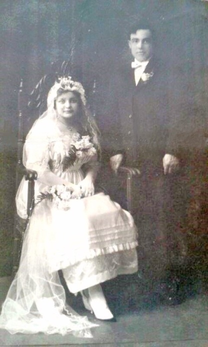 Waldina and Alfred's Wedding. November 28, 1917