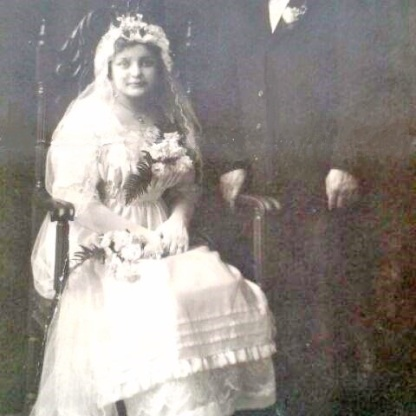 Waldina and Alfred's Wedding. November 28, 1917