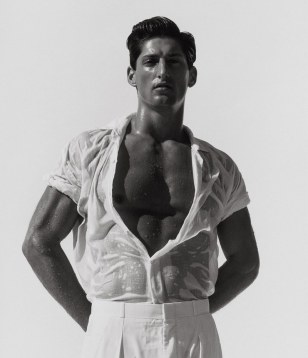 tony in white herb ritts