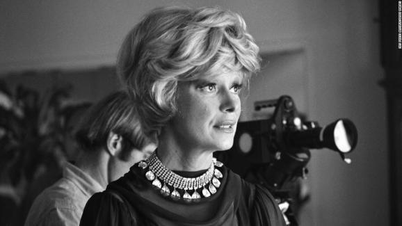 American singer and actress Carol Channing stands in front of a camera during the shooting of her Emmy-winning television special 'An Evening With Carol Channing,' August 13, 1965. (Photo by CBS Photo Archive/Getty Images)