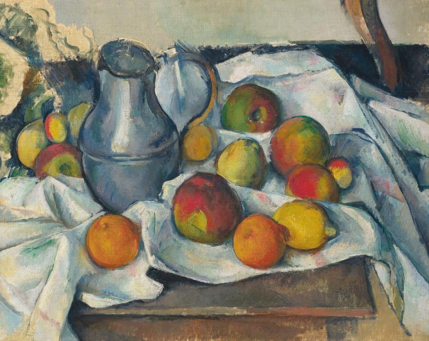Paul Cézanne (1839-1906) | Bouilloire et fruits