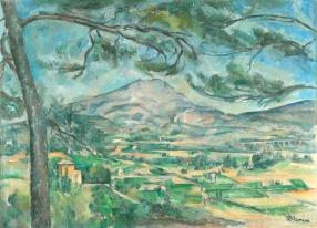 Paul Cézanne, Mount Sainte-Victoire with a Large Pine
