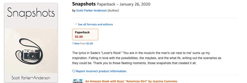 snapshots paperback