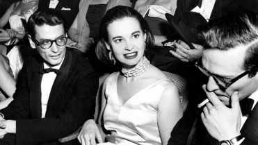 Apr. 19, 2011 - RICHARD AVEDON, GLORIA VANDERBILT AND DIRECTOR SIDNEY LUMET AT THE PREMIERE OF ''EAST OF EDEN''. JACK STAGER/ 1955(Credit Image: © Globe Photos/ZUMAPRESS.com)
