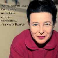 Simone de Beauvoir - Words To Live By