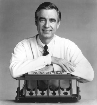 Fred Rogers of Mr. Rogers' Neighborhood in the 1980s.