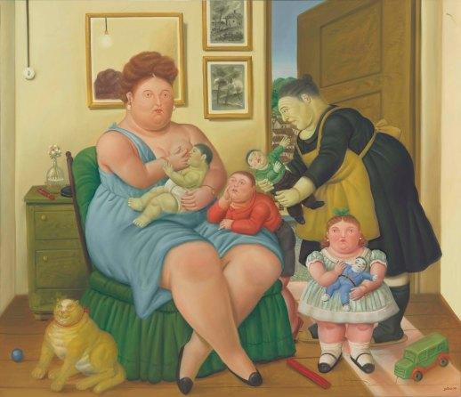 fernando botero a family 1990